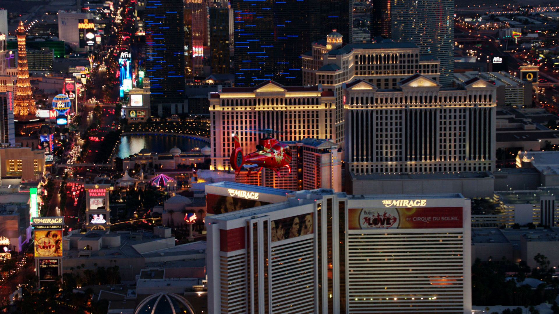 Vegas Strip Highlights Helicopter Tour with Transfers