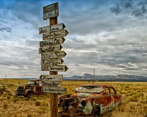 Route 66 by car