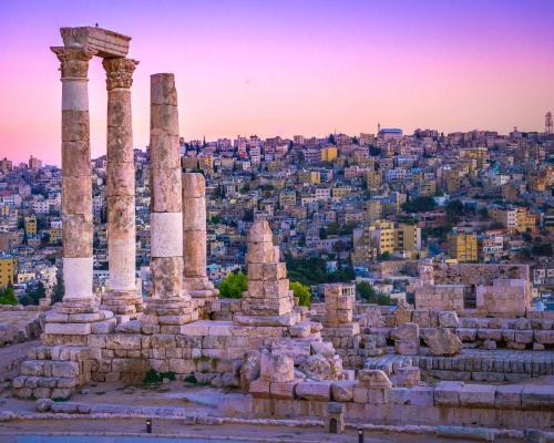 Amman, Jordána: utazás repülővel és szállás